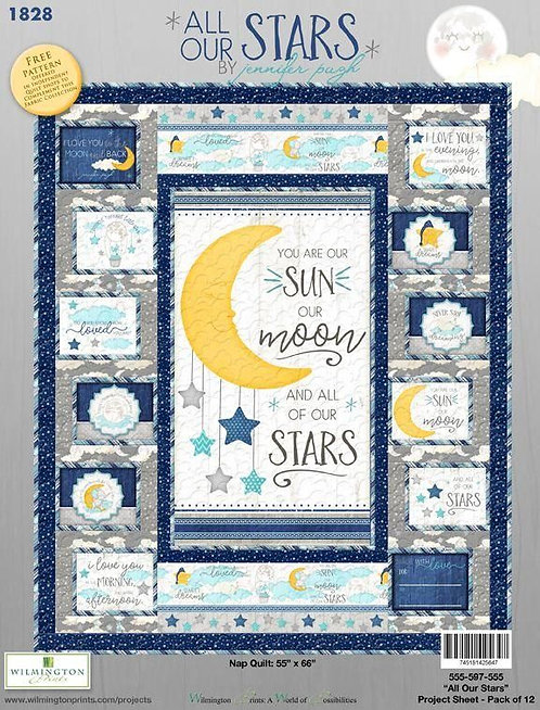 """All Our Stars Quilt Kit - w/Binding 50"""" x 68"""""""