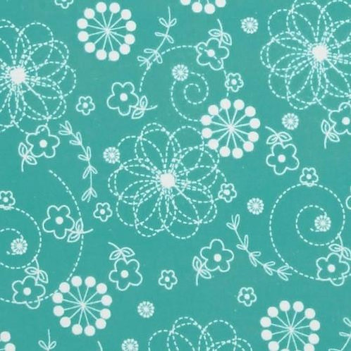 Little Ones Flannel - Teal Doddles