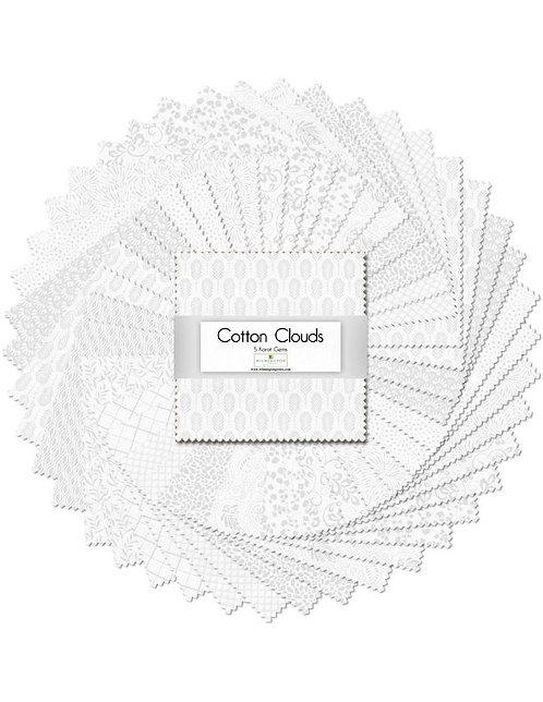 "5 Karat Essentials Gems by Wilmington - Cotton Clouds 5"" Squares x 40 pc"