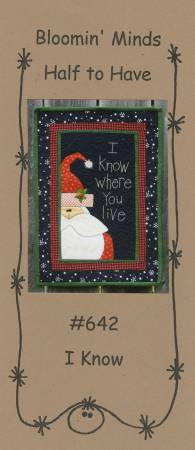 "I Know Wallhanging Pattern (14"" x 19"")"