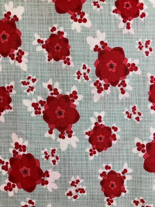 Return to Winter's Lane by Moda - Mint Berry Burst - 513170-16 (Length=2.45m)