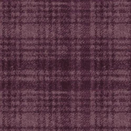 Woolies Flannel - Windowpane - Deep Berry