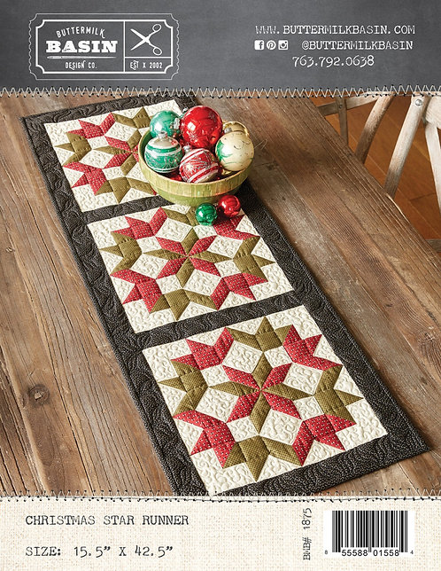 "Christmas Star Runner by Buttermilk Basin 14.5x42.5"" - BMB1875"