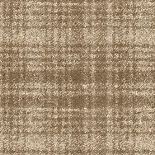 Woolies Flannel - Windowpane - Tan