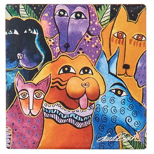 Laurel Burch Coasters by Monarque - Dog and Doggies