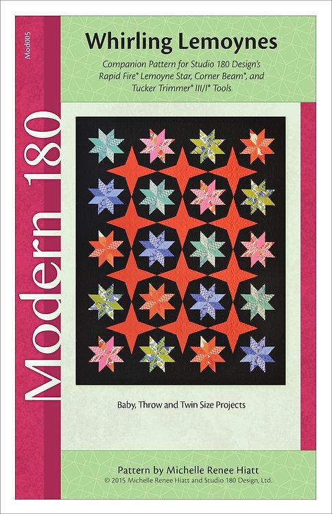 Whirling Lemoynes Quilt Pattern - 3 Sizes