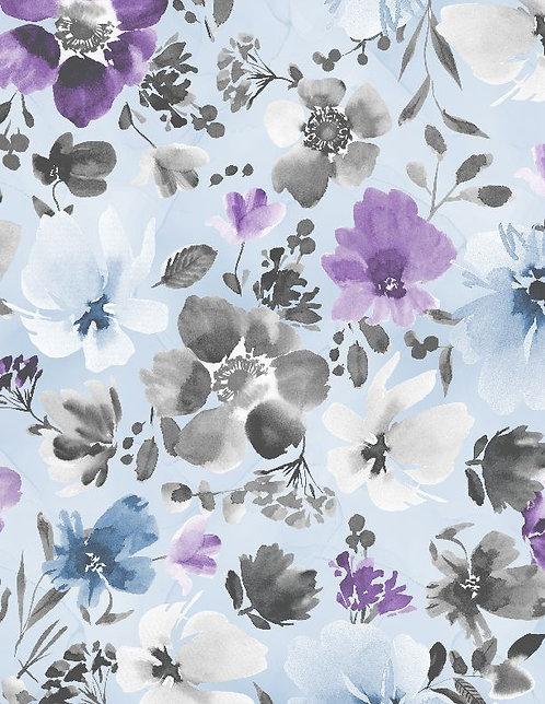 Awakenings by Wilmington Prints - Floral Blue - 3039-13406-496