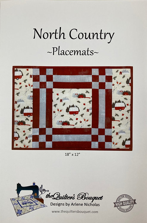 """North Country Placemat Pattern by Quilter's Bouquet (18"""" x 12"""")"""