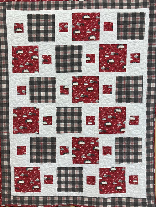 """Dash Quilt Kit 44"""" x 58"""" Binding Included"""