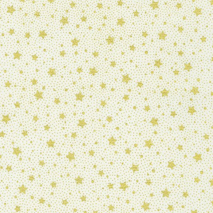 Holiday Flourish Metallic 13 by R. Kaufman - Gold Stars - 19259-15