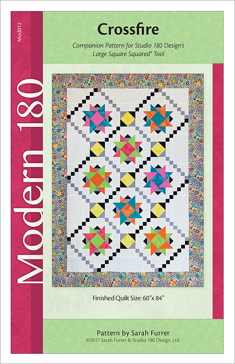"Crossfire Quilt Pattern - 60"" x 84"""