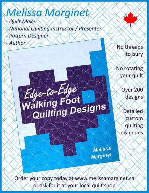 Edge to Edge Walking Foot Quilting Designs Book by Melissa Marginet