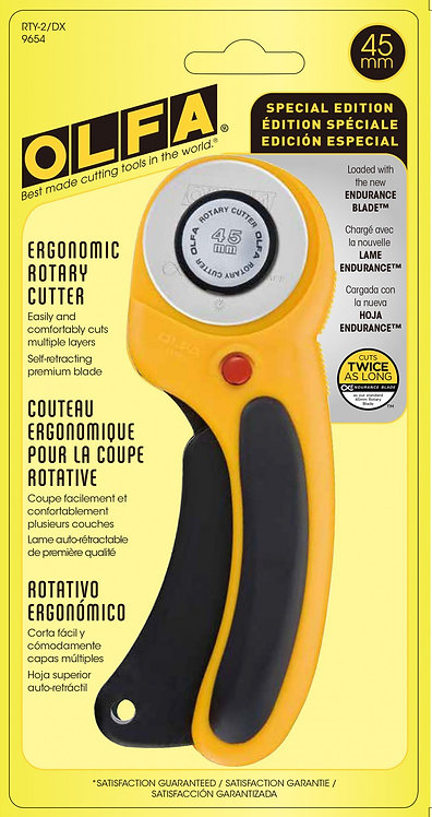 OLFA Deluxe Ergonomic Rotary Cutter - 45MM