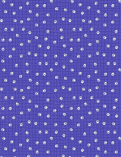 Feeline Good by Wilmington - Paws White on Purple 1031-84452-641