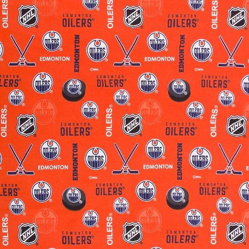 NFL Flannel - Edmonton Oilers - Orange 173-OIL