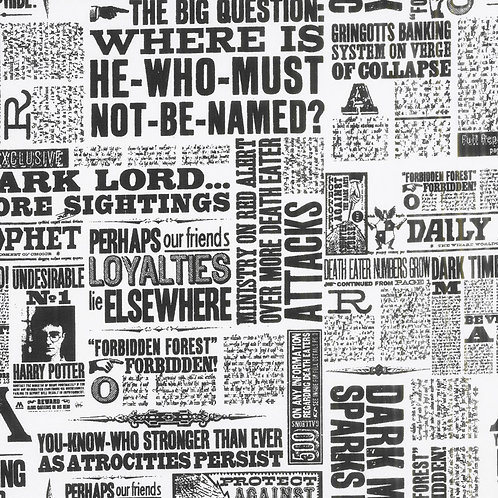 Wizarding World - Harry Potter Newsprint - White - 23800120-01