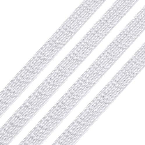 "Elastic -1/4"" White"