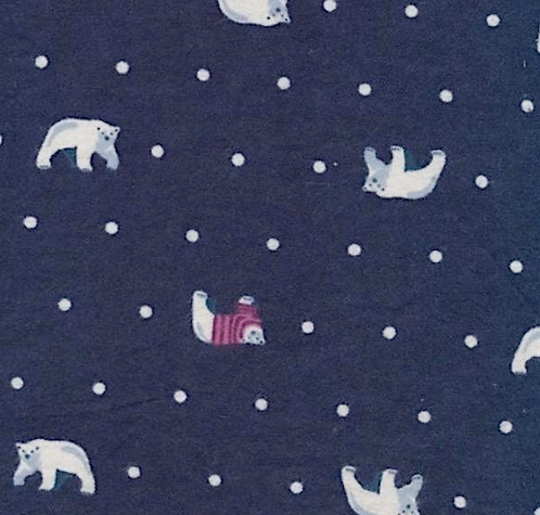 Bears on Flannel - Navy