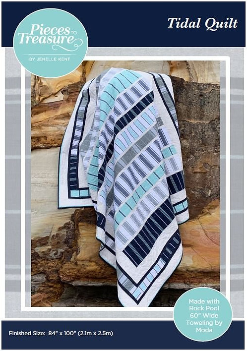 """Tidal Quilt Kit with Rockpool Toweling by Moda - 84"""" x 100"""""""