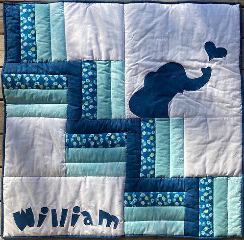 "Animal Cracker Quilt Kit - Blue w/Binding 40"" x 40"""