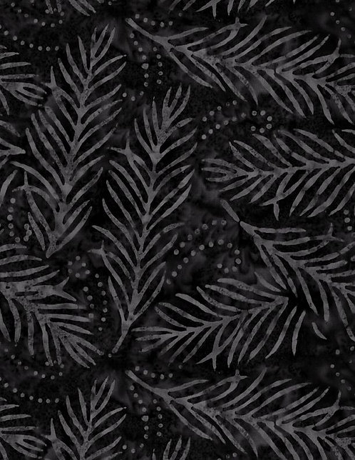 "Essentials 108"" - Delicate Fronds - Black"