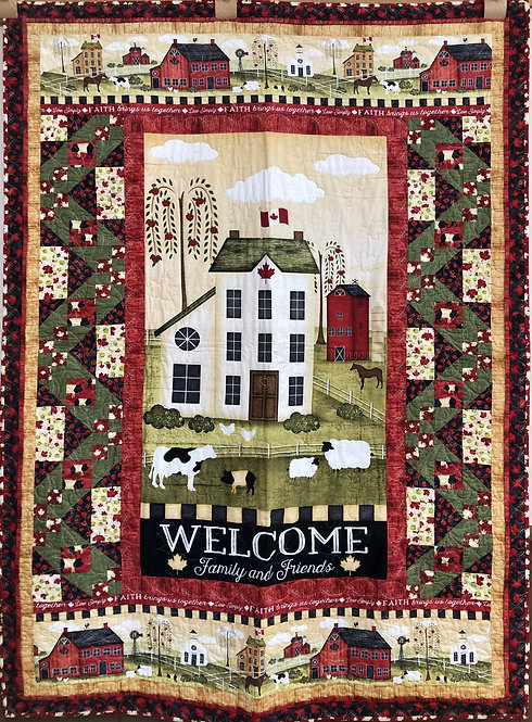 "Welcome Family and Friends Quilt - 46"" x 75.5"""