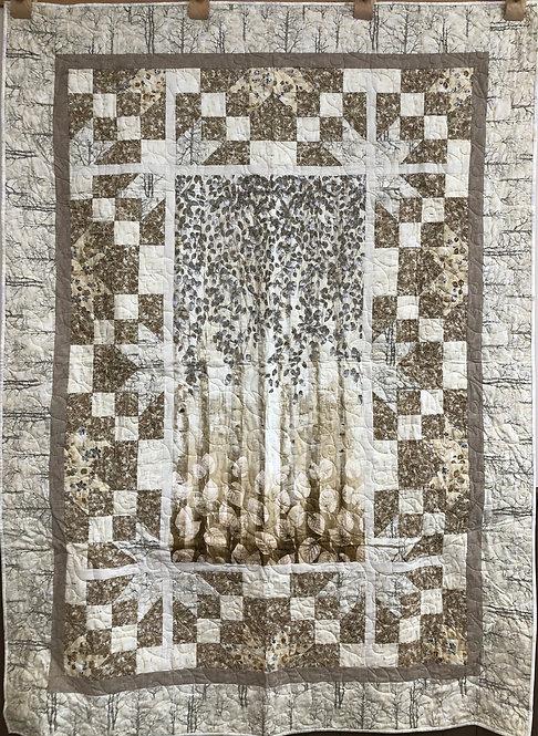 """Serene Woodland Quilt - 53"""" x 73"""""""