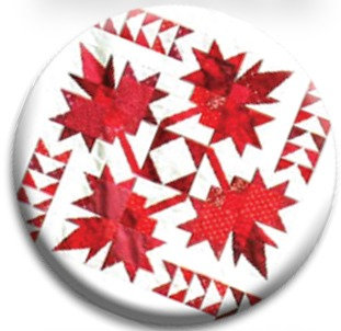 Oh Canada Quilt Dot Magnet