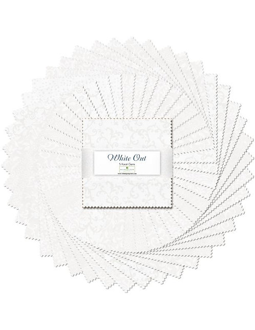 "5 Karat Essentials Gems by Wilmington - White Out 5"" Squares x 40 pc"