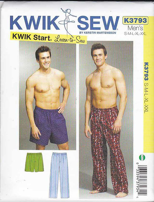 Kwik Sew Pyjama Pattern - Mens (K3793)