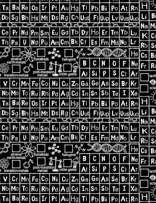 Math & Science Periodic Table - Black C8231