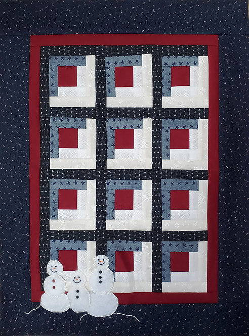 """Winter at the Cabin Wallhanging Kit - 13"""" x 16"""""""