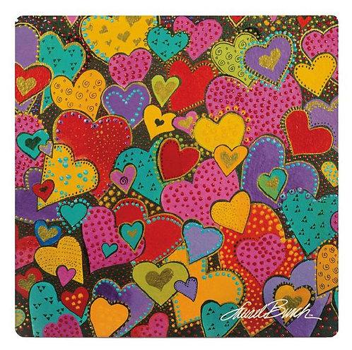 Laurel Burch Coasters by Monarque - Dancing Hearts