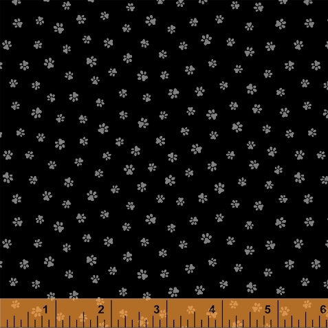 Kitty Kitty by Whistler for Windham Fabrics - Kitty Paws - 51686-2 Black