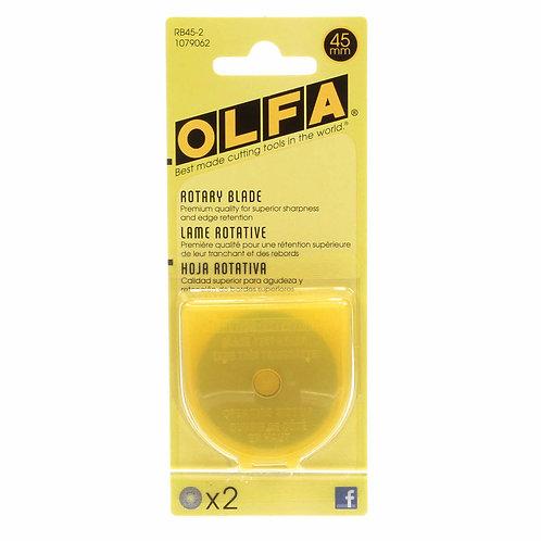 OLFA 45mm Rotary Blades (2 pack)