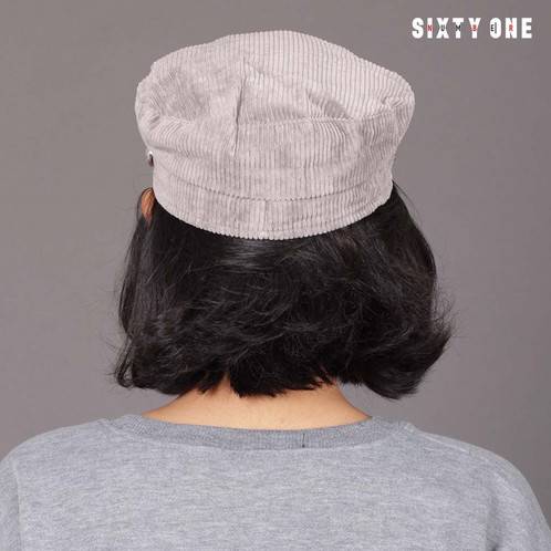 8bf8b67126b GREY CORDUROY MILITARY HAT. Rp189