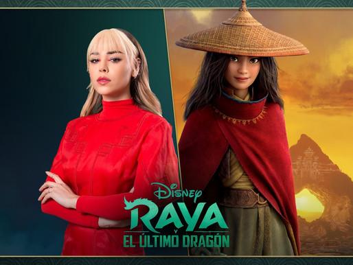 """DANNA PAOLA SERÁ LA VOZ DE """"RAYA"""" EN  ESPAÑOL PARA LATINOAMÉRICA DE RAYA Y EL ÚLTIMO DRAGÓN"""