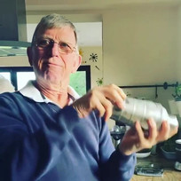 My dad is taking the cocktail making wit
