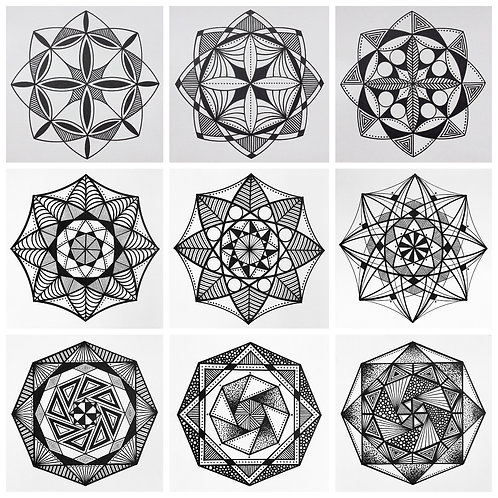 Mandala Flower Drawing Workshop (online)