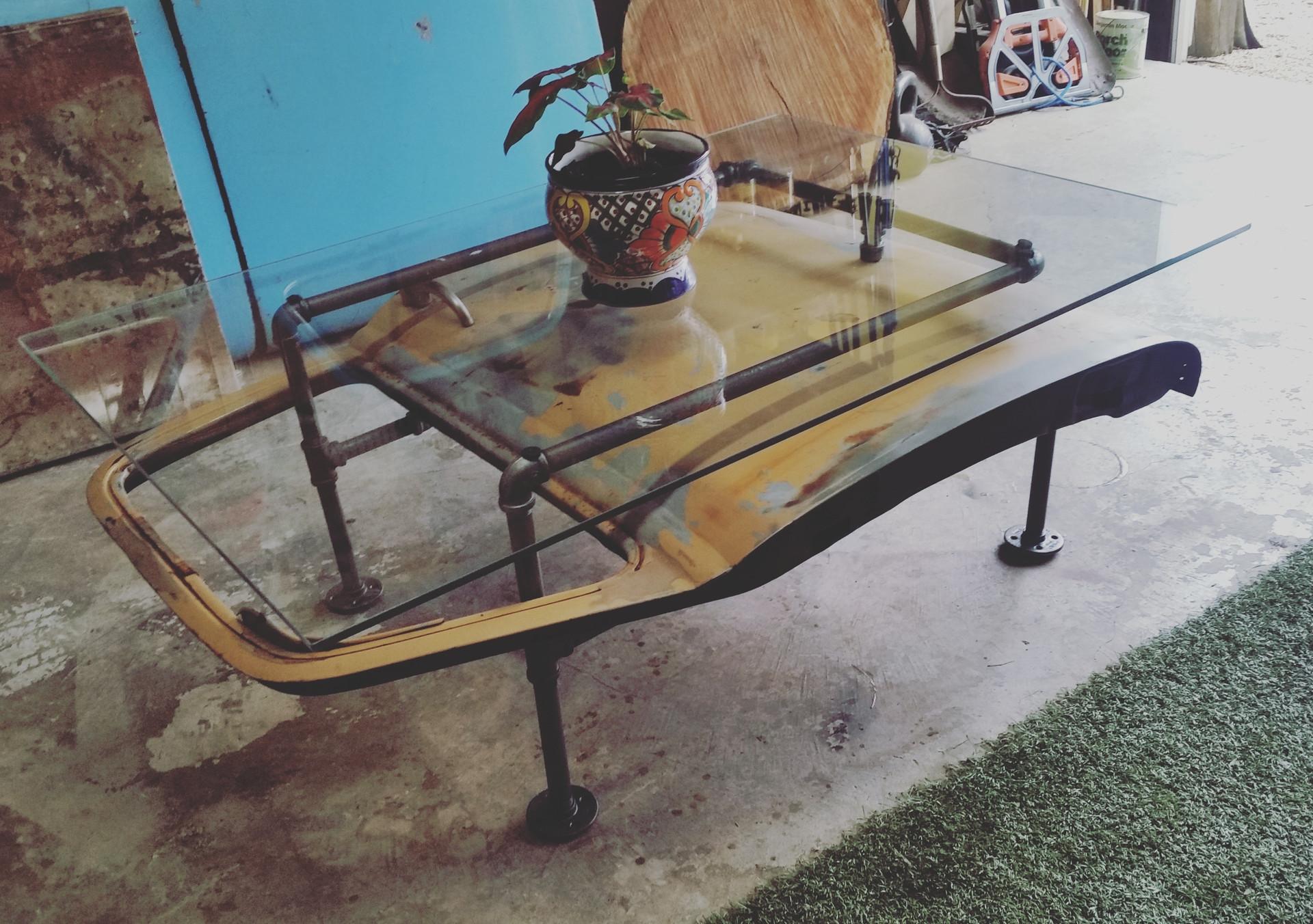 1950 Chevy truck Door Coffee Table