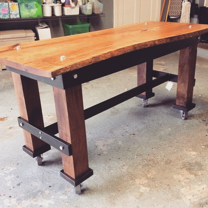 Cherry and Walnut Utility table