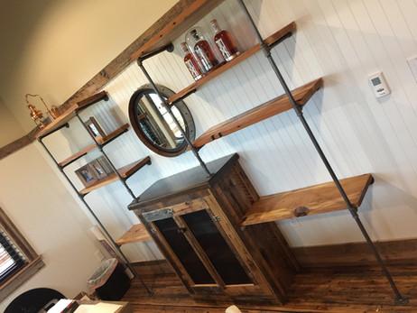 Reclaimed Wood Industrial Shelf Unit