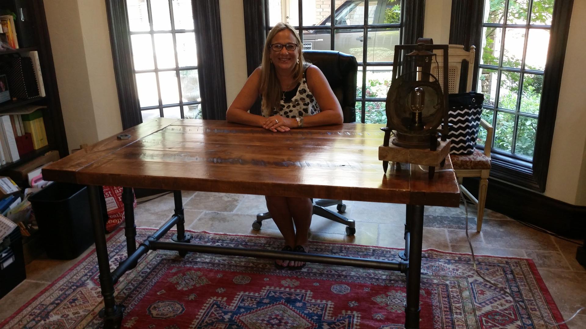 Reclaimed Oak Industial Table