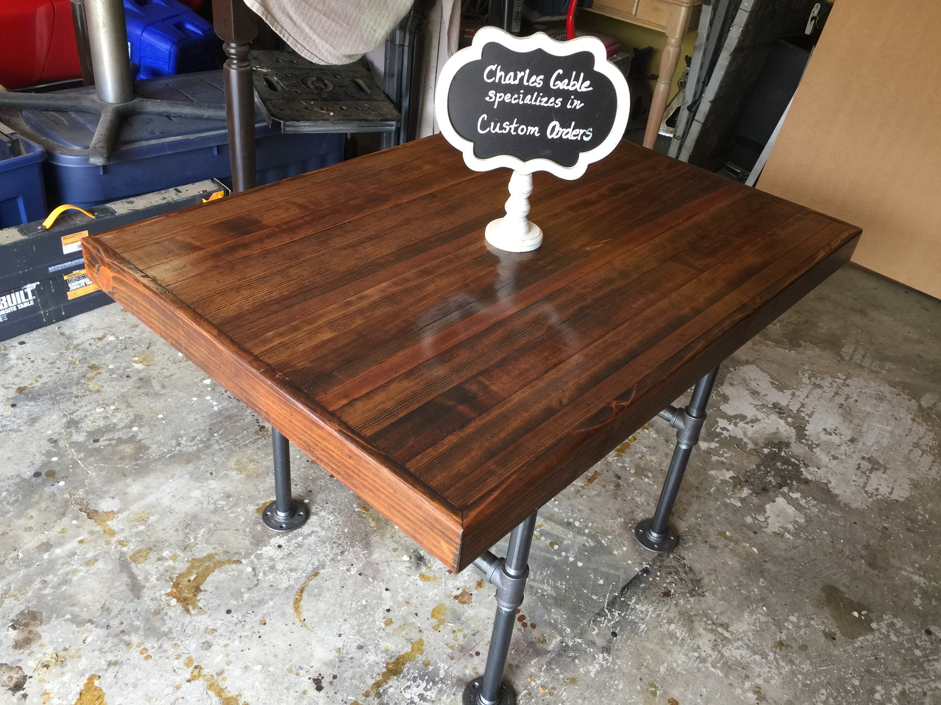 Reclaimed LongLeaf Pine Industial Table