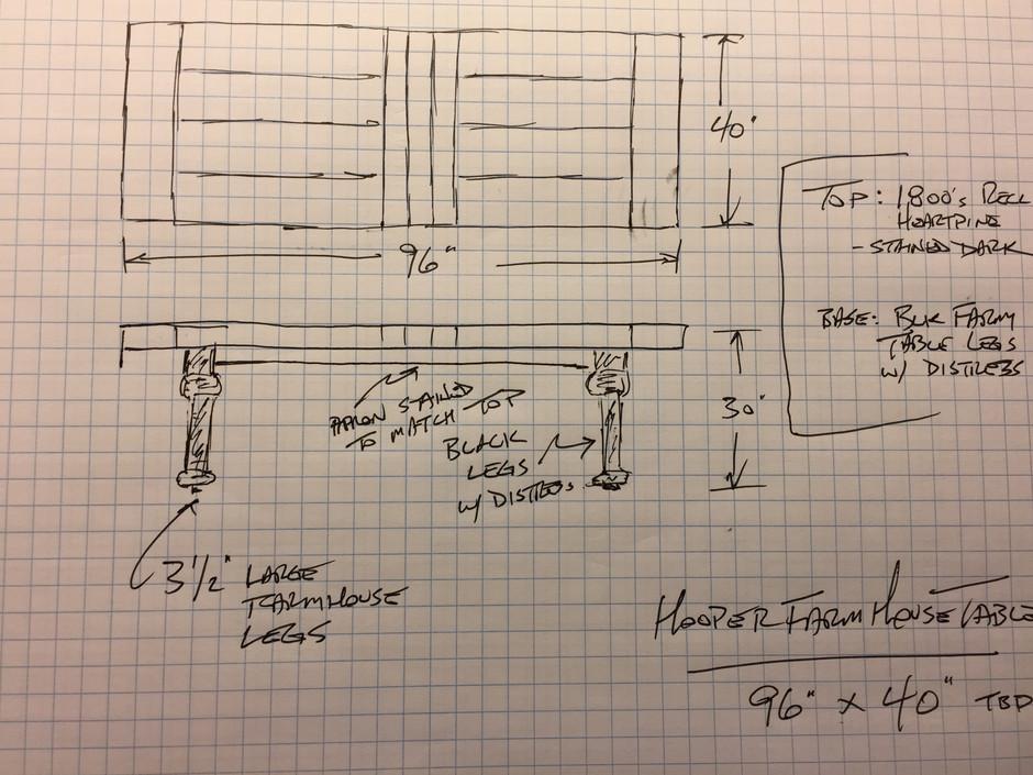Heirloom Table sketch