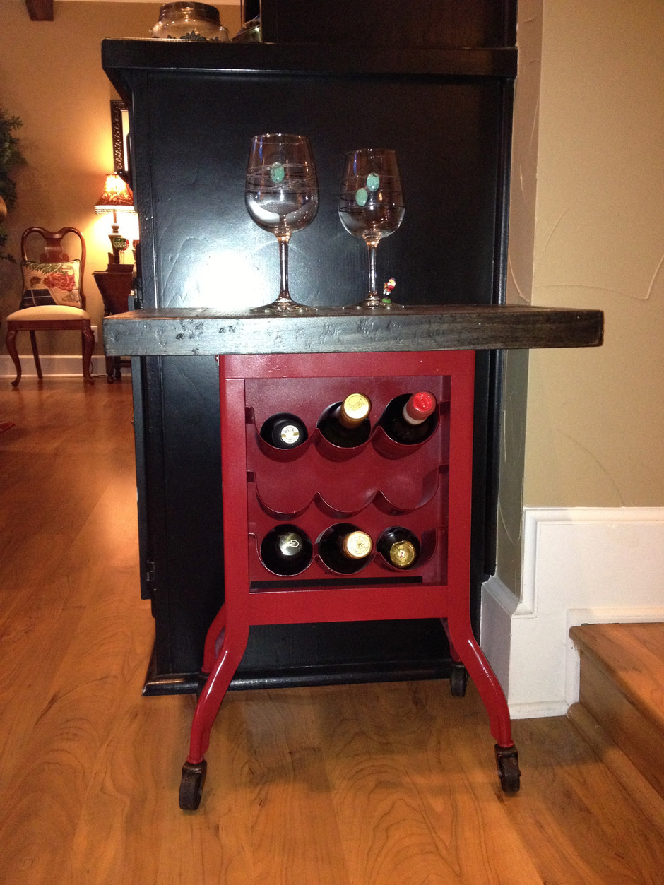 Repurposed 1950s Dictaphone Stand Table