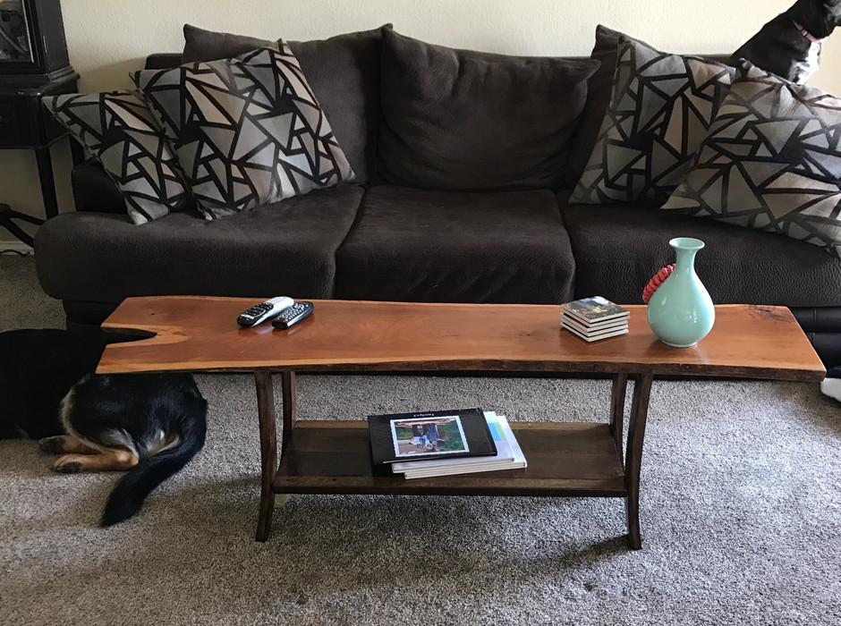 Live Edge Cherrywood Coffee Table