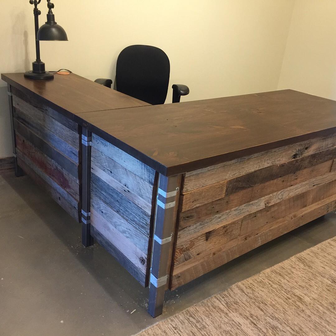 reclaimed wood office furniture. Reclaimed Wood Office Desk. Furniture