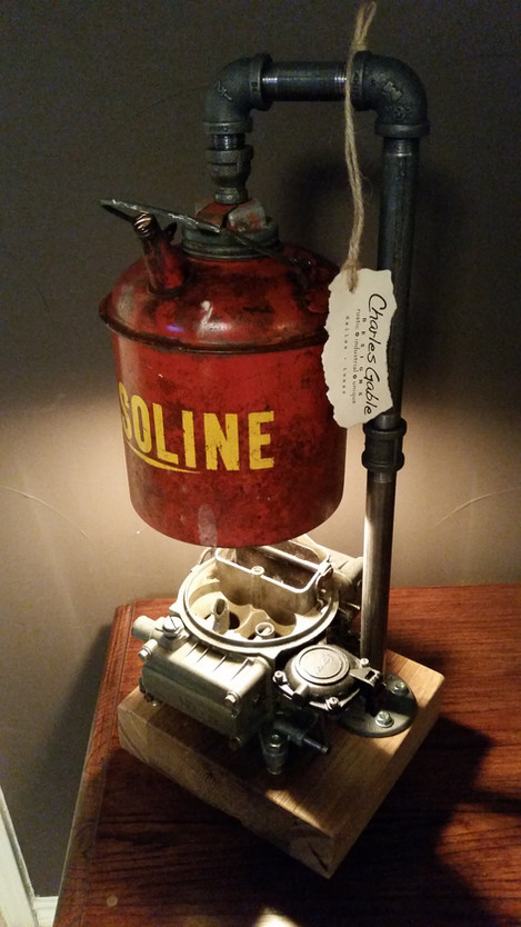 Reclaimed Auto Parts Lamp
