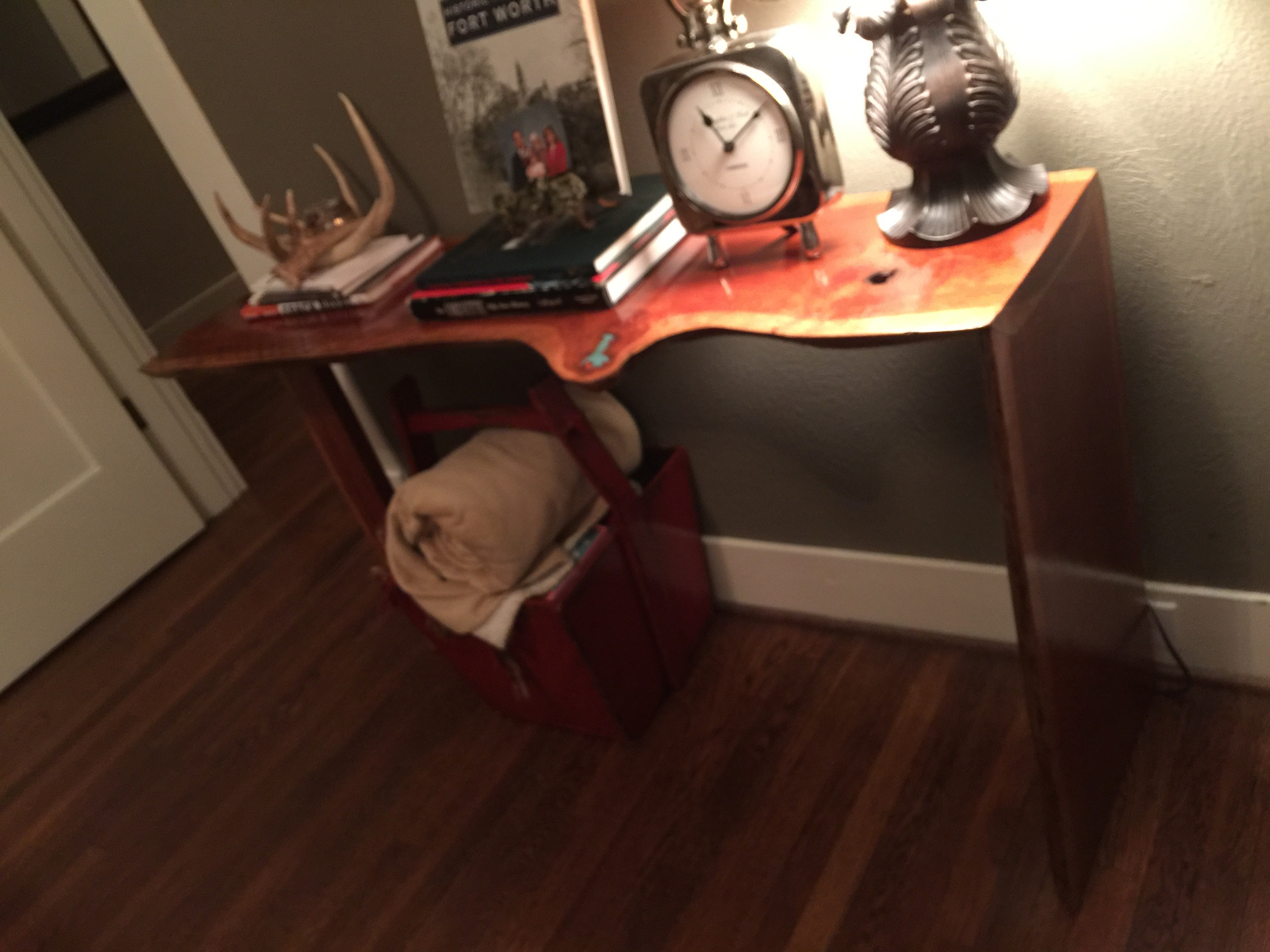 Live Edge Cherrywood Waterfall Console table